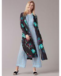 Diane von Furstenberg - Long Collared Coat - Lyst