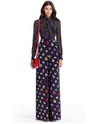 Diane von Furstenberg - Dvf Arabella Tie Neck Silk Jumpsuit - Lyst