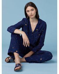 Diane von Furstenberg - Halsey Crepe De Chine Pyjama Top - Lyst