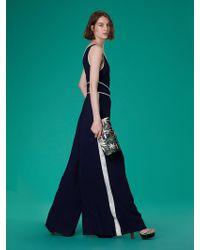 af3a7aadafa9 Lyst - Diane Von Furstenberg Kacey Wide-leg Jumpsuit in Black