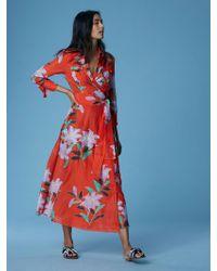 Diane von Furstenberg - Collared Wrap Dress - Lyst