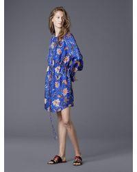 Diane von Furstenberg - Long-sleeve Cinched Waist Shirt Dress - Lyst
