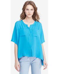 a9979768bec89 Diane von Furstenberg - Dvf Karrly Silk Tunic Top - Lyst