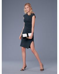 Diane von Furstenberg - Cap Sleeve Ruched Jersey Dress - Lyst