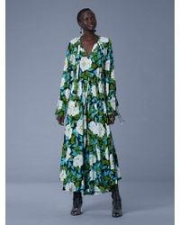 Diane von Furstenberg - Bethany Cinch Sleeve Maxi Dress - Lyst