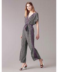Diane von Furstenberg - Short-sleeve Wrap Jumpsuit - Lyst