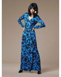 Diane von Furstenberg - New Julian Long Banded Silk Jersey Wrap Dress - Lyst