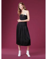 Diane von Furstenberg - Sleeveless Structured Midi Dress - Lyst