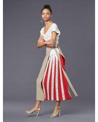Diane von Furstenberg - Pleated Clapsed Kilt Skirt - Lyst