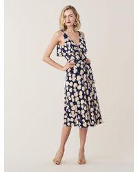 Diane von Furstenberg - Naya Ruffled Silk-jersey Wrap Dress - Lyst