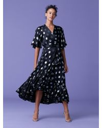 11751c5fbf854 On sale Diane von Furstenberg - Sareth Dot Wrap Dress - Lyst