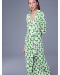 83d388edb22 Diane von Furstenberg Maureen Silk Jersey Wrap Dress in Green - Lyst