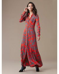 Diane von Furstenberg - Long-sleeve Maxi Shirtdress - Lyst