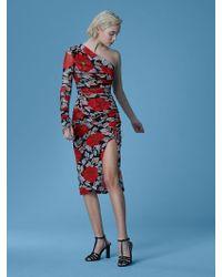 Diane von Furstenberg - Boswell One-shoulder Ruched Dress - Lyst