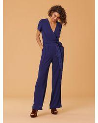 Diane von Furstenberg - New Purdy Wrap Jumpsuit - Lyst