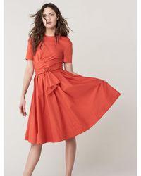 Diane von Furstenberg - Quinton Cotton Poplin Midi Dress - Lyst