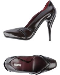 Miu Miu Brown Pump - Lyst