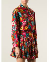 Kenzo Vintage Floral Print Blouse and Skirt Ensemble - Lyst