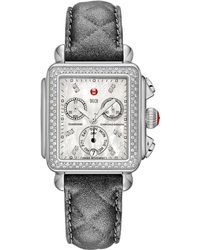 Michele Watches - Urban Quilted Leather Watch Strap/16mm - Lyst