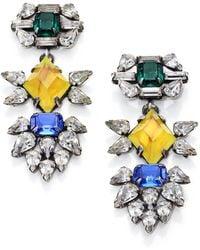 DANNIJO Dorothy Crystal Drop Earrings - Lyst