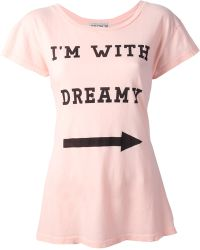 Wildfox White Label - Im with Dreamy T-Shirt - Lyst