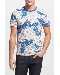 Original Penguin Floral Print Mesh T-Shirt - Lyst
