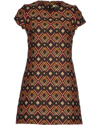 Issa Short Dress brown - Lyst