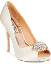 Badgley Mischka Jeannie Peep-Toe Pumps - Lyst