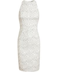 Nina Ricci Silk and Floral Lace Dress - Lyst