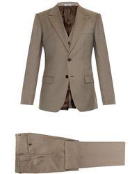 Dolce & Gabbana Three-Piece Wool And Silk-Blend Suit brown - Lyst