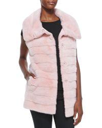 Oscar de la Renta Mink Furrainwear Reversible Vest - Lyst