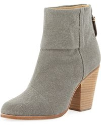 Rag & Bone Newbury Canvas Ankle Boot Dark Gray - Lyst