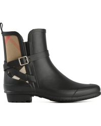Burberry House Check Rain Boots - Lyst