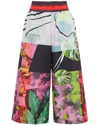 Clover Canyon - Red Painted Garden Print Culottes - Lyst