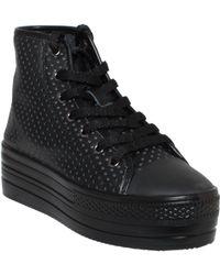 Junya Watanabe Pierced Leather Sneaker - Lyst