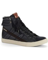 Diesel D Vellows D String Hi Top Sneakers - Lyst