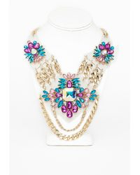 Missguided Perspex Chain Detail Statement Necklace Multi - Lyst