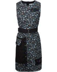 Marc Jacobs Floral Print Panelled Dress - Lyst