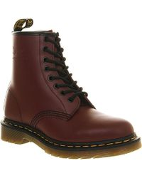 Dr. Martens 1460 8-Eye Leather Boots - For Men red - Lyst