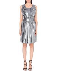 Vivienne Westwood Anglomania Gardner Gathered Metallic Dress - For Women silver - Lyst