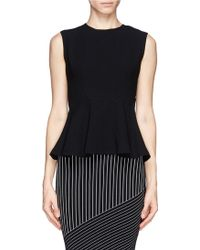 Sandro Earl Textured Sleeveless Peplum Top - Lyst
