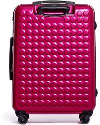 "Dot Drops - X-tra Light 25"" Suitcase - Metallic Pink - Lyst"