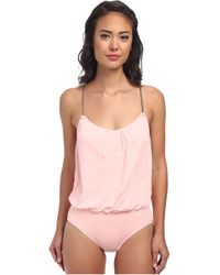 Vince Camuto Collins Luxe Blouson Maillot W Removable Soft Cups - Lyst