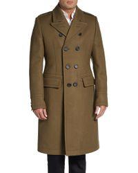 Burberry Prorsum Wool Military Overcoat - Lyst