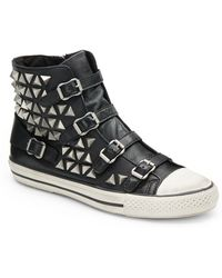 Ash Vice Studded Leather Hi-top Sneakers - Lyst