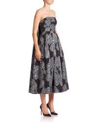 Erdem   Alina Floral-Jacquard Dress    Lyst