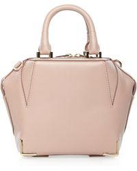 Alexander Wang Emile Mini Structured Leather Satchel Bag - Lyst