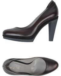 Sergio Rossi Brown Pump - Lyst