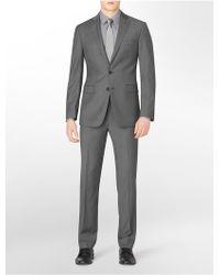 Calvin Klein White Label Body Slim Fit Light Grey Pinstripe Wool Suit Jacket - Lyst