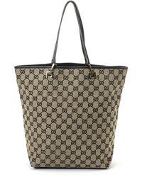 Gucci Canvas Handbag - Lyst